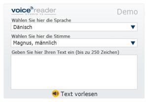 Text-to-Speech Demo - Voice Reader Studio 15 Stimmen