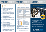 Produktbroschüre Voice Reader Studio 15 Produktbroschüren