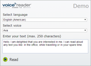 Voice Reader Home 15 Demo Voices
