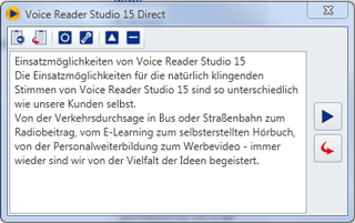 Screenshot Voice Reader Studio 15 Direct